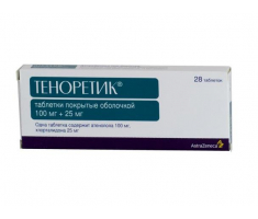 Теноретик 100 мг+25 мг / Tenoretic 100 mg+25 mg